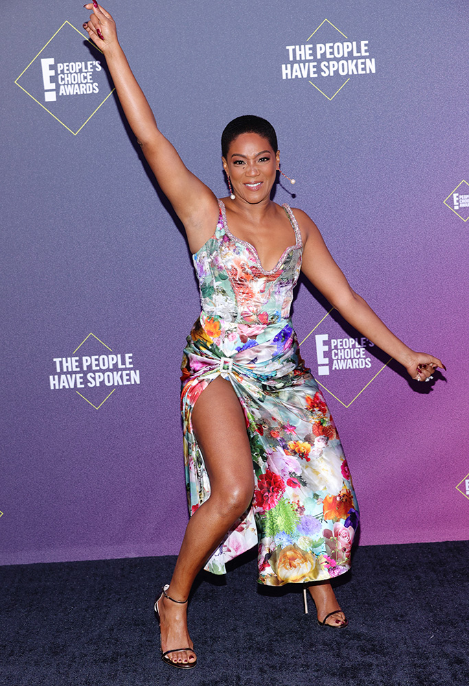 SANTA MONICA, CALIFORNIA - NOVEMBER 15: 2020 E! PEOPLE'S CHOICE AWARDS -- In this image released on November 15, Tiffany Haddish arrives at the 2020 E! People's Choice Awards held at the Barker Hangar in Santa Monica, California and on broadcast on Sunday, November 15, 2020. (Photo by Rich Polk/E! Entertainment/NBCU Photo Bank via Getty Images)