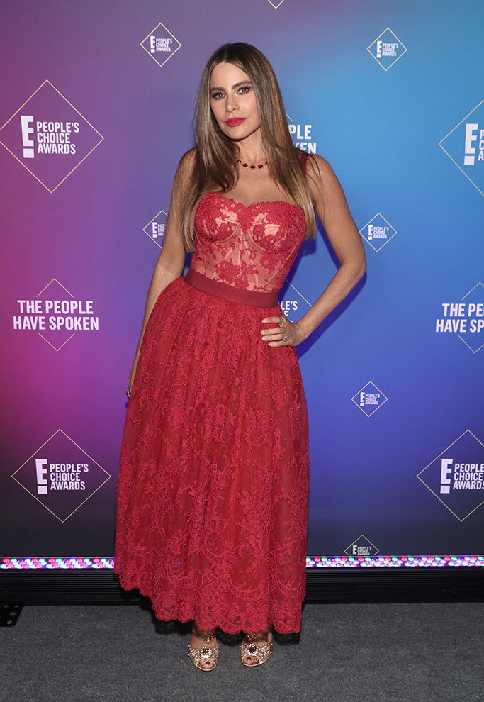 SANTA MONICA, CALIFORNIA - NOVEMBER 15: 2020 E! PEOPLE'S CHOICE AWARDS -- In this image released on November 15, Sofía Vergara, The Comedy TV Star of 2020, attends the 2020 E! People's Choice Awards held at the Barker Hangar in Santa Monica, California and on broadcast on Sunday, November 15, 2020. (Photo by Todd Williamson/E! Entertainment/NBCU Photo Bank via Getty Images)