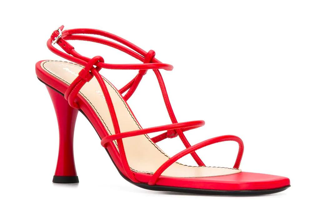 red heels, sandals, proenza schouler