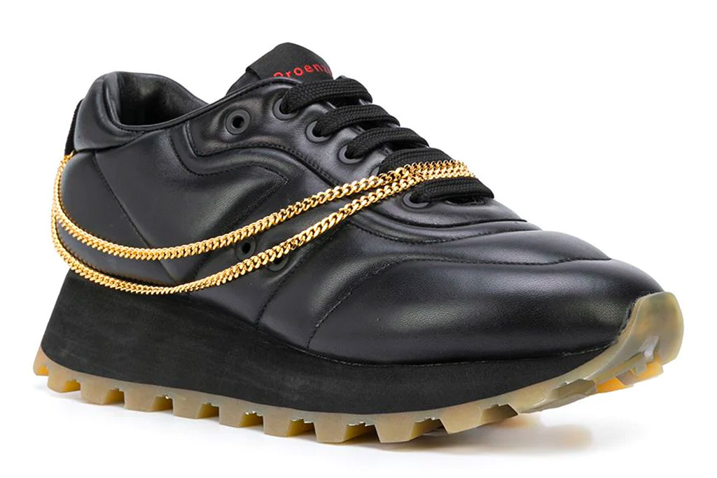 Proenza Schouler Puffy sneakers, chain, gold