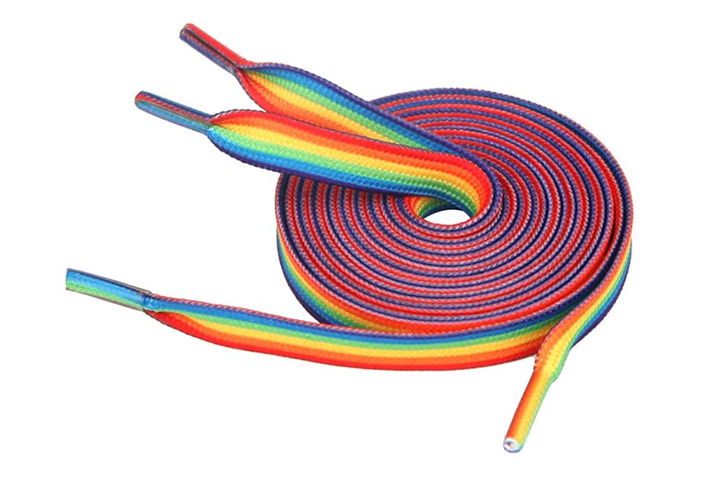 rainbow laces, shoe laces, rainbow shoe laces