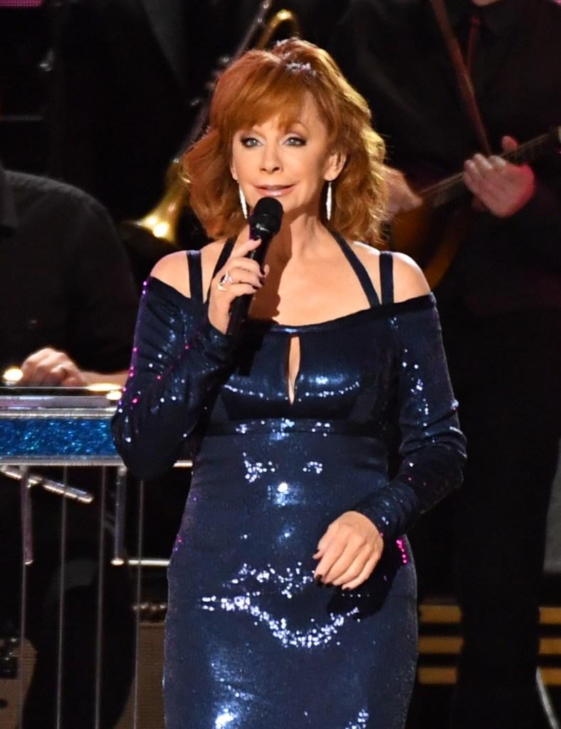 Stage at the 2016 CMA Awards, 'Country Music's Biggest Night', held at Bridgestone Arena in Nashville, Tennessee.Pictured: Reba McEntire,Reba McEntireKacey MusgravesMartina McBrideCarrie UnderwoodJennifer NettlesMiranda McBrideMiranda McBridDolly PartonSharon StoneChris StapletonBrad PaisleyTaylor SwiftGarth BrooksRef: SPL1386122 051116 NON-EXCLUSIVEPicture by: SplashNews.comSplash News and PicturesUSA: +1 310-525-5808London: +44 (0)20 8126 1009Berlin: +49 175 3764 166photodesk@splashnews.comWorld Rights