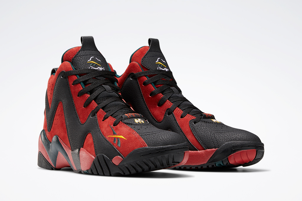 Reebok Kamikaze 2 Black Green Red