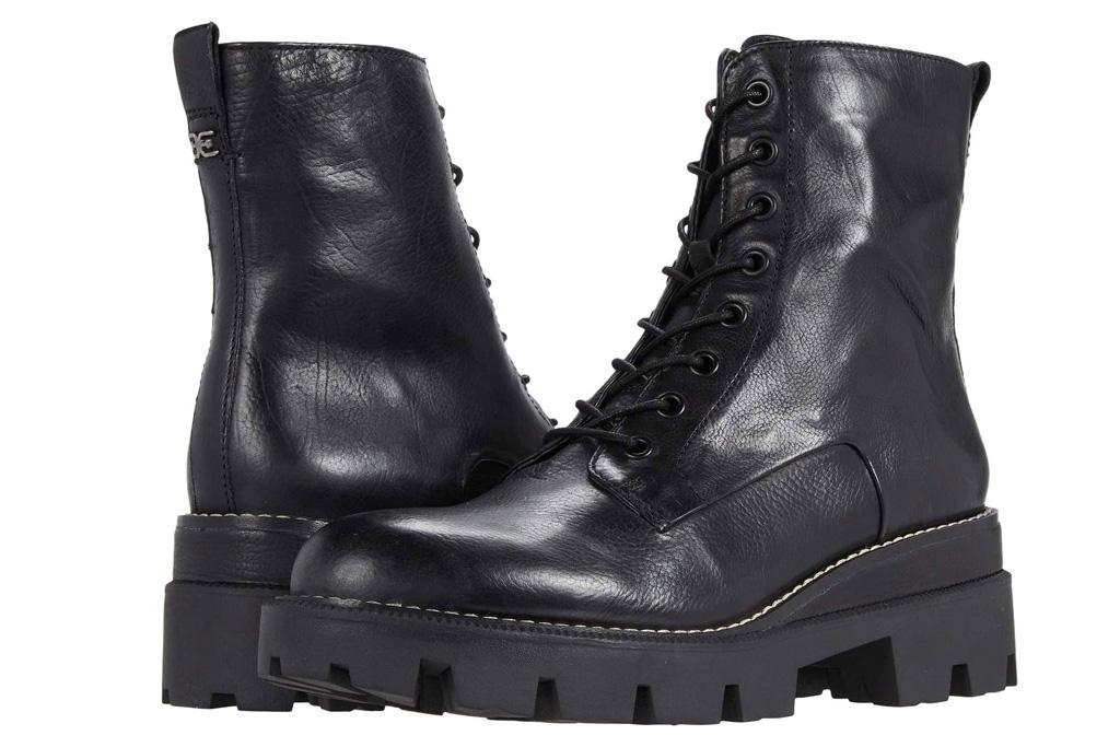 black boots, boots, combat boots, sam edelman