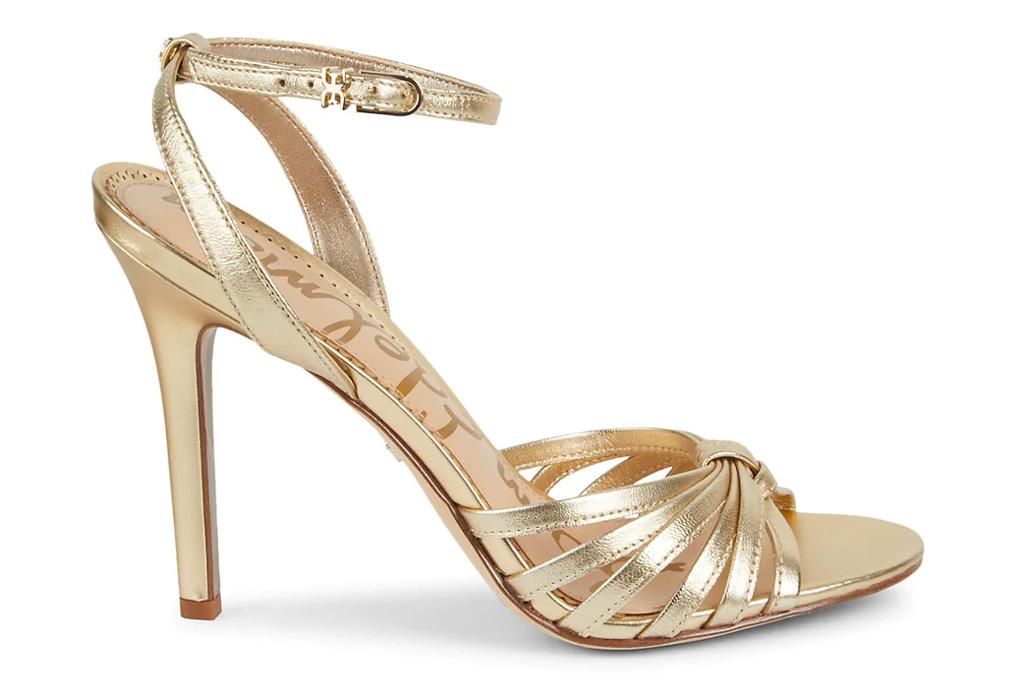 gold, sandals, heels, sam edelman