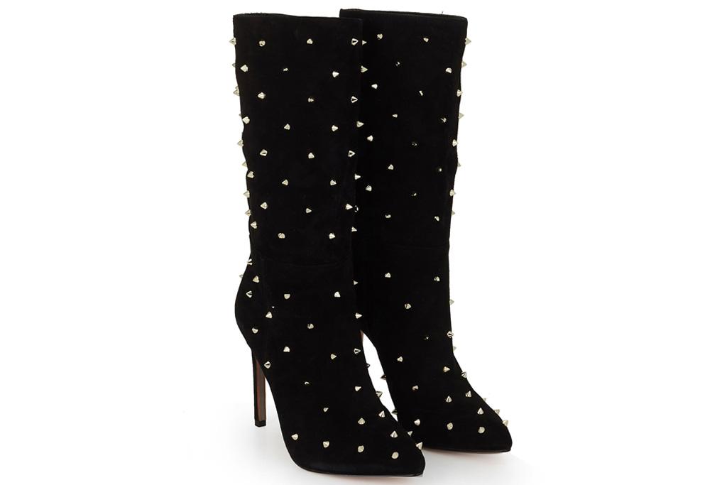 boots, black, studded, sam edelman
