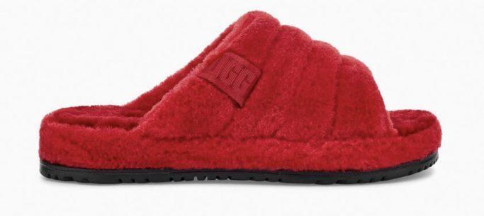 Samba Red Fluff You Slippers