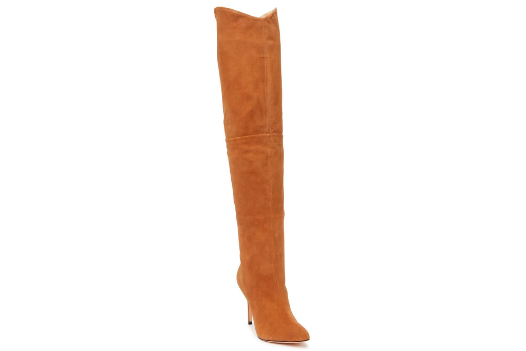 sshoes, heels, boots, thigh high, over the knee, brown, schutz