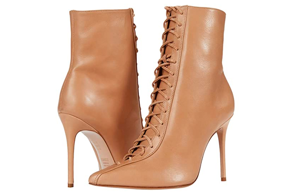 lace-up boots, boots, nude, tan, schutz