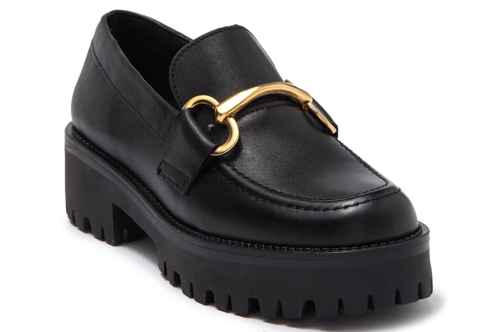 loafers, chunky black, patent, steve madden