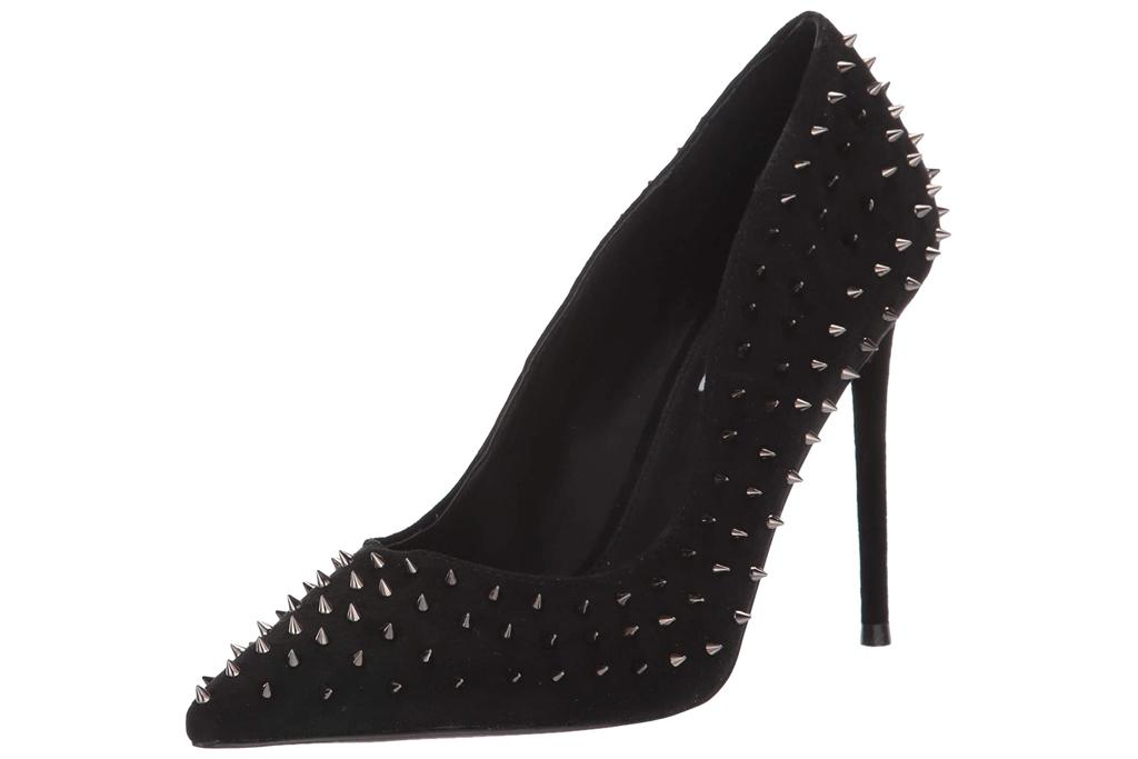 heels, platform, black, steve madden, stud