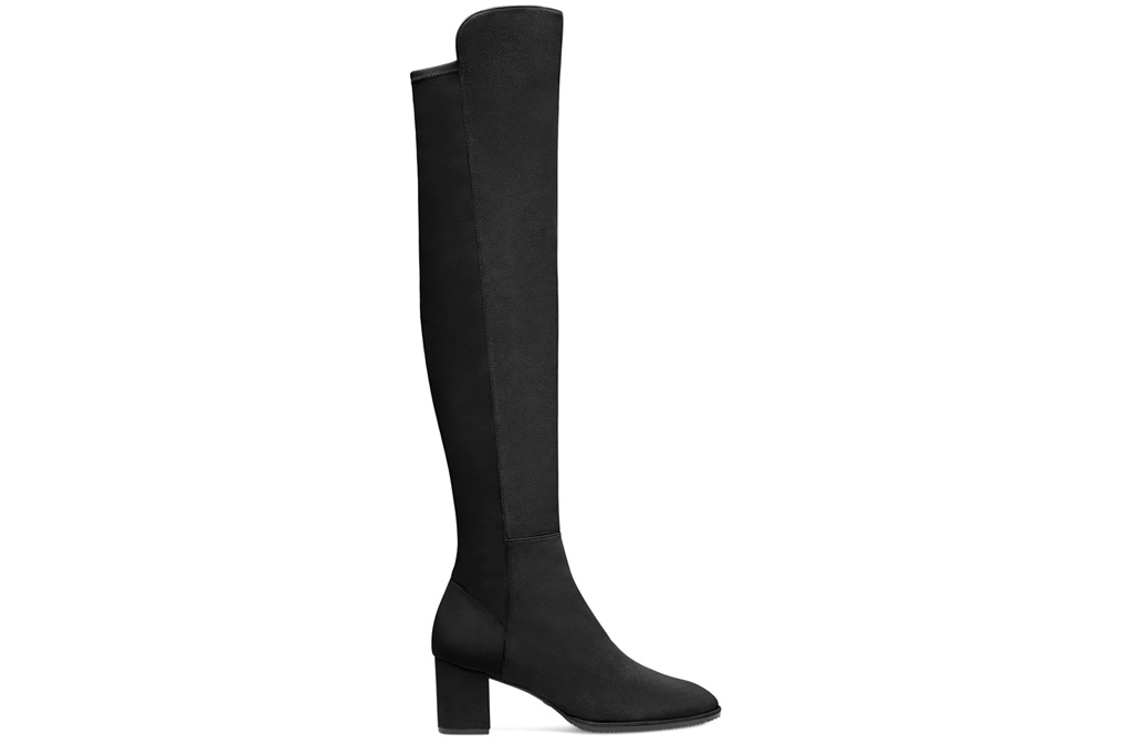 stuart weitzman, black boots, suede, over the knee