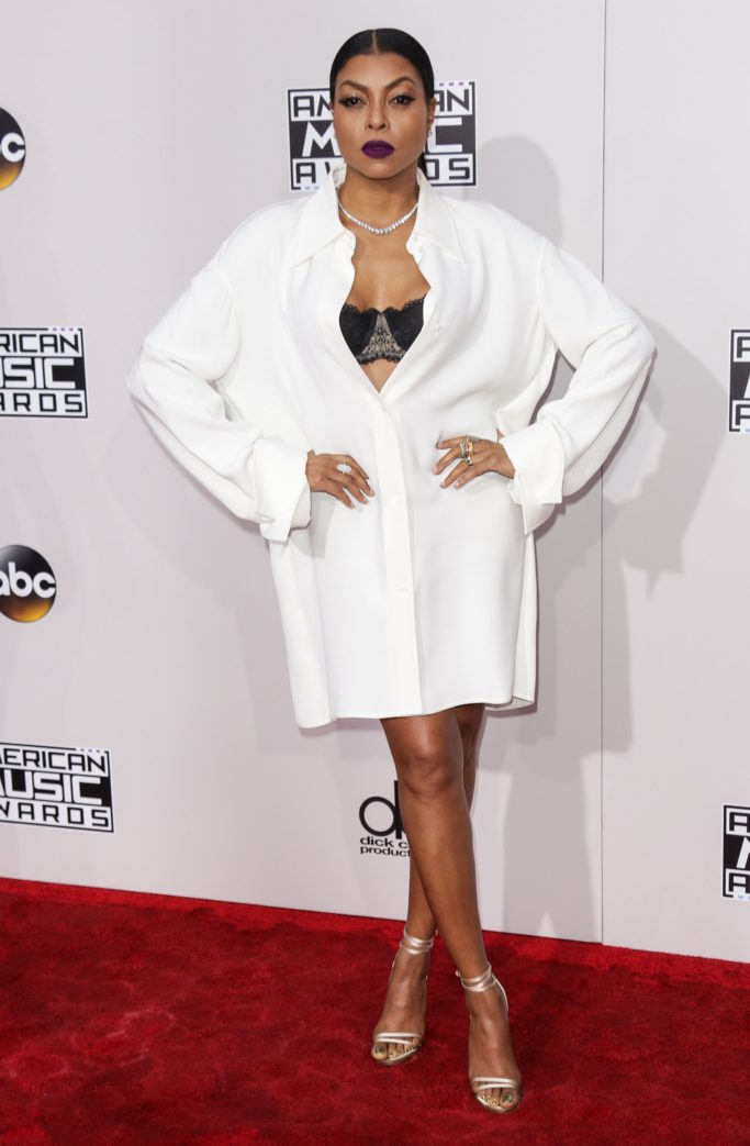 Actress Taraji P. Henson arrives on the Red carpet at 2016 American Music Awards at Microsoft Theater on November 20, 2016 in Los Angeles, California, United StatesPictured: Taraji P. HensonRef: SPL1398148 201116 NON-EXCLUSIVEPicture by: SplashNews.comSplash News and PicturesUSA: +1 310-525-5808London: +44 (0)20 8126 1009Berlin: +49 175 3764 166photodesk@splashnews.comWorld Rights