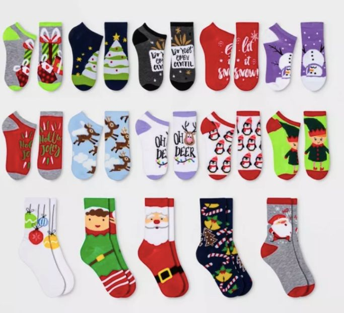 target holiday sock advent calendar