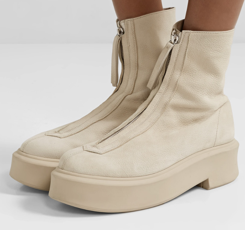 the row, zip front boots, boots