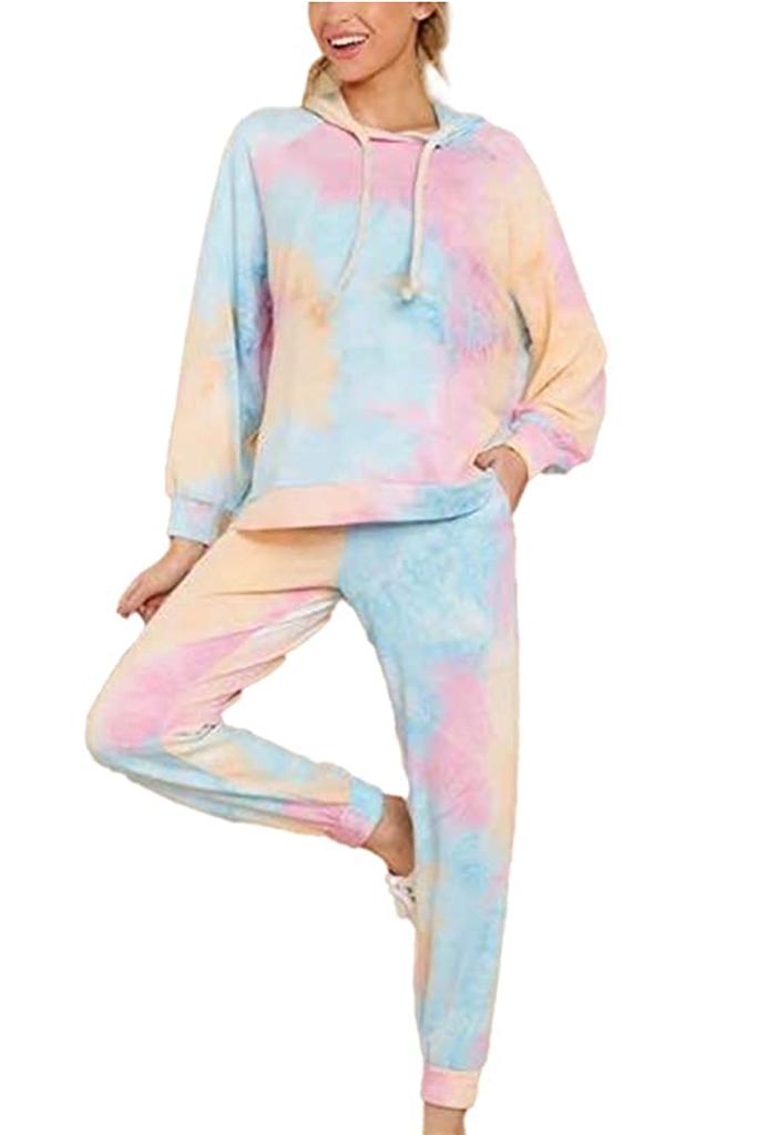 tie dye sweat set, rainbow hoodie and sweat pants combo, tie dye sweats