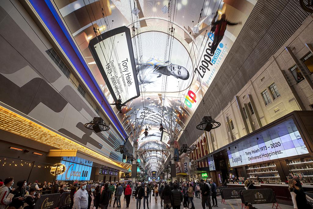 Zappos Fremont Street Experience Tony Hsieh Las Vegas