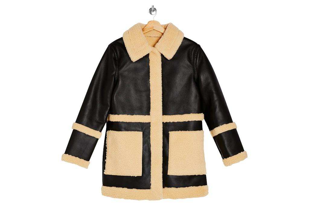 jacket, topshop, shearling