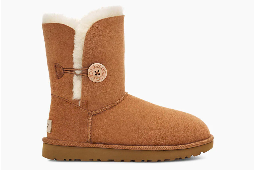 ugg, button boots, boots, bailey, brown