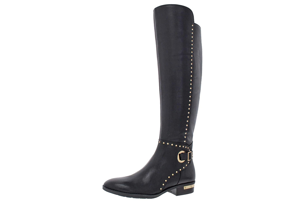 boots, black, studded, vince camuto