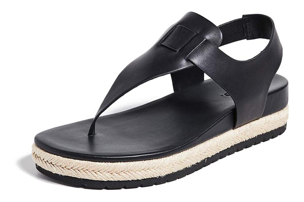 thong sandals, flatform, platform, thong, vince
