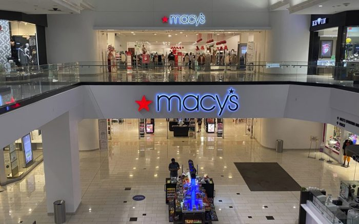 A Macy's department store, Thursday, Oct. 15, 2020, in Glendale, Calif. (Kirby Lee via AP)