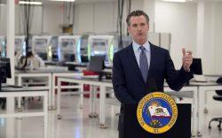 California Gov. Gavin Newsom speaks at