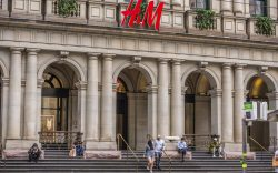 H&M store in a landmark building