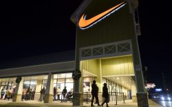 A Nike logo seen at one