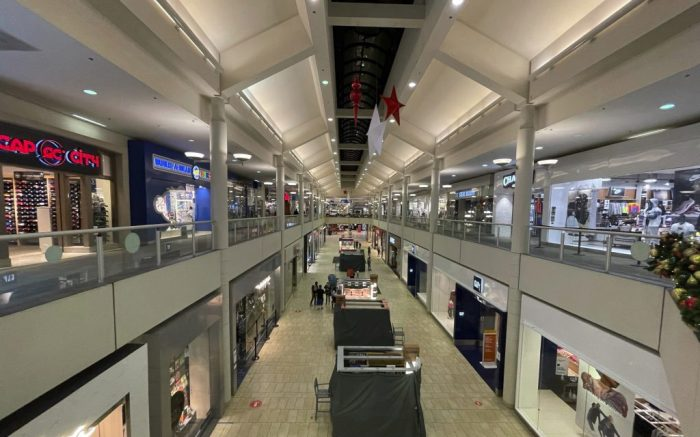 A general view of The Shops at Montebello, Monday, Nov. 30, 2020, in Montebello, Calif. (Kirby Lee via AP)