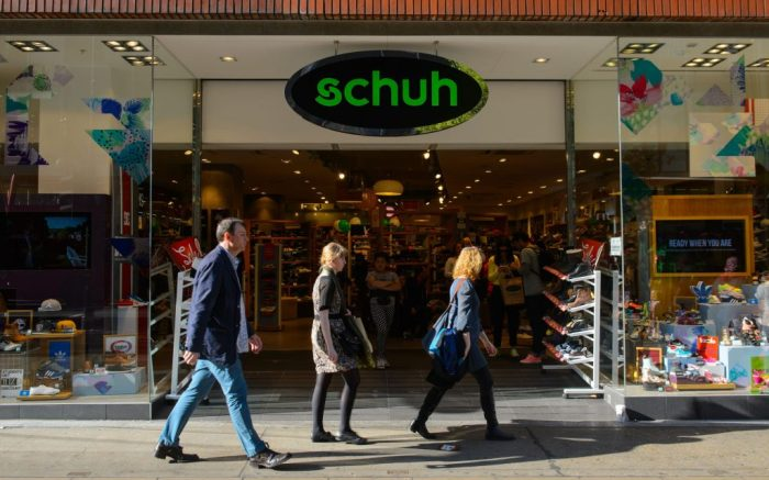 Schuh. File photo dated 16/04/14 of a Schuh store in central London, as the chief executive of the footwear retailer has dismissed the prospect of the company being sold off, despite its US parent facing pressure from an activist investor to offload the business. Issue date: Sunday March 11, 2018. Boss Colin Temple told the Press Association he was confident in the footwear chain's performance and that the retailer will continueÊto prosper under the ownership of Genesco, which bought the firm for £100 million in 2011. See PA story CITY Schuh. Photo credit should read: Dominic Lipinski/PA Wire URN:35465951