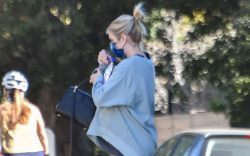 Emma Roberts is seen in Los