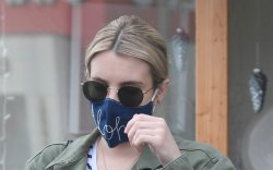 Emma Roberts goes antique shopping with