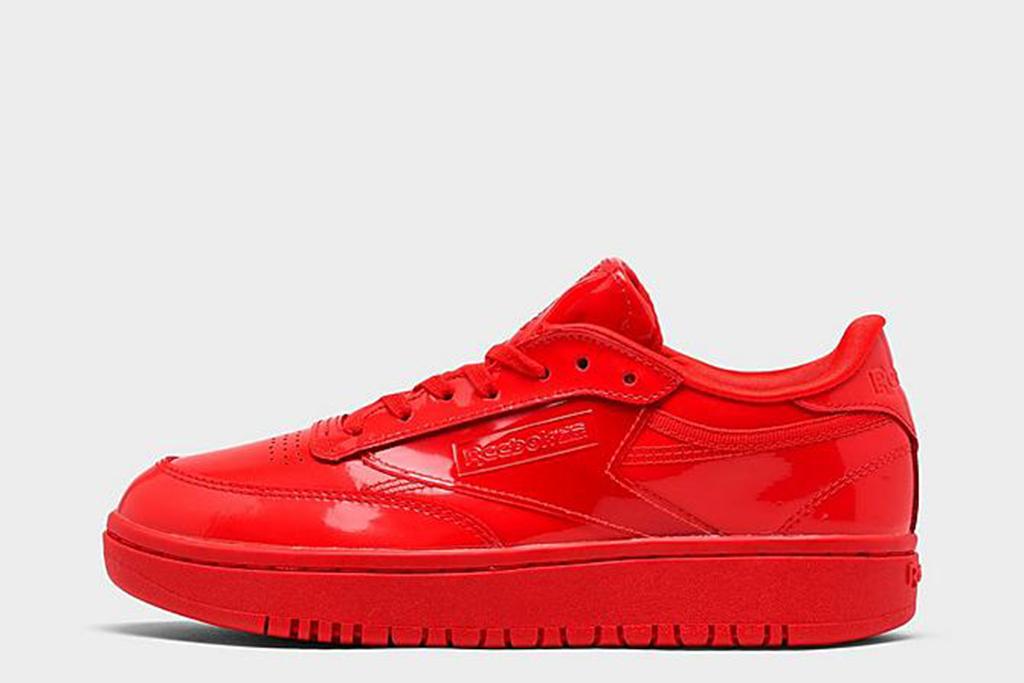 cardi b reebok, cardi b club c sneaker, reebok red sneaker