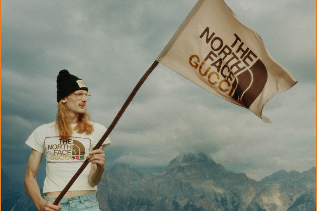 gucci, the north face, gucci north face, hiking