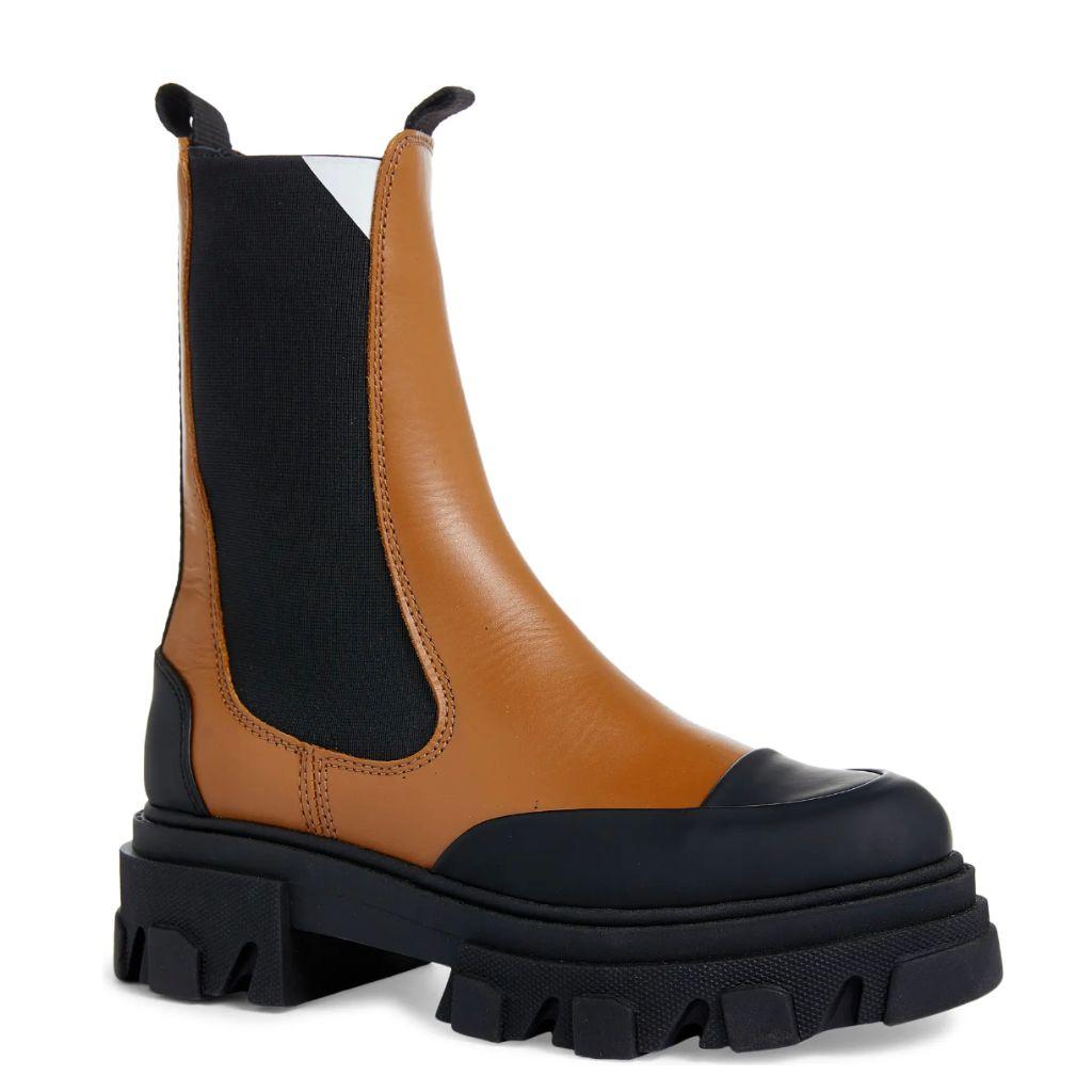 ganni boots, ganni, fashion trends, lug sole boots