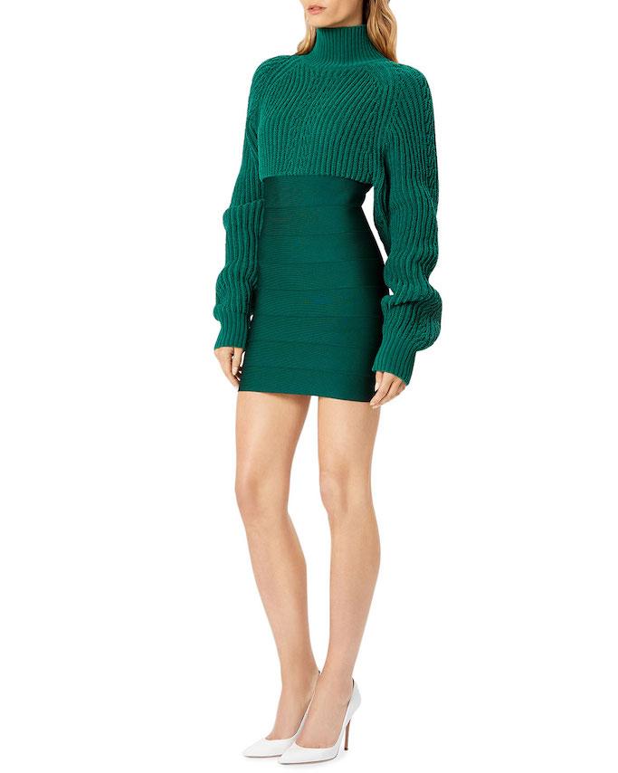 Herve Leger chunky knit mini dress