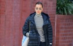 Model Irina Shayk is walking with