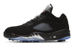 Air Jordan 5 Golf 'Black Metallic'