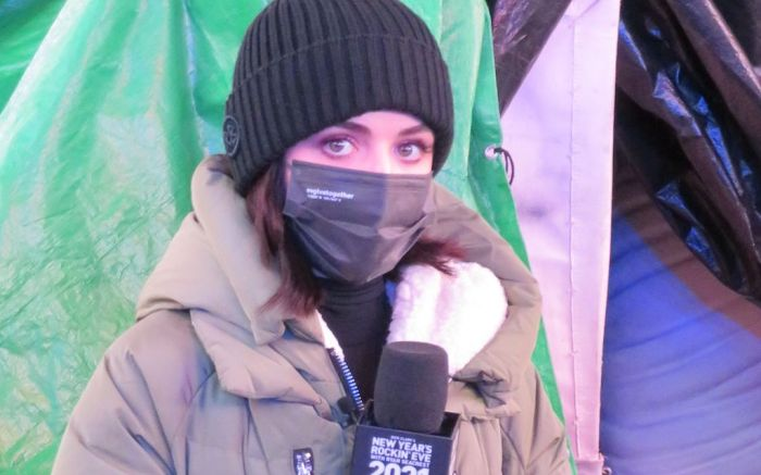 Lucy Hale Arrives In Different Outfit At Times Square New Year's Eve Rehearsals