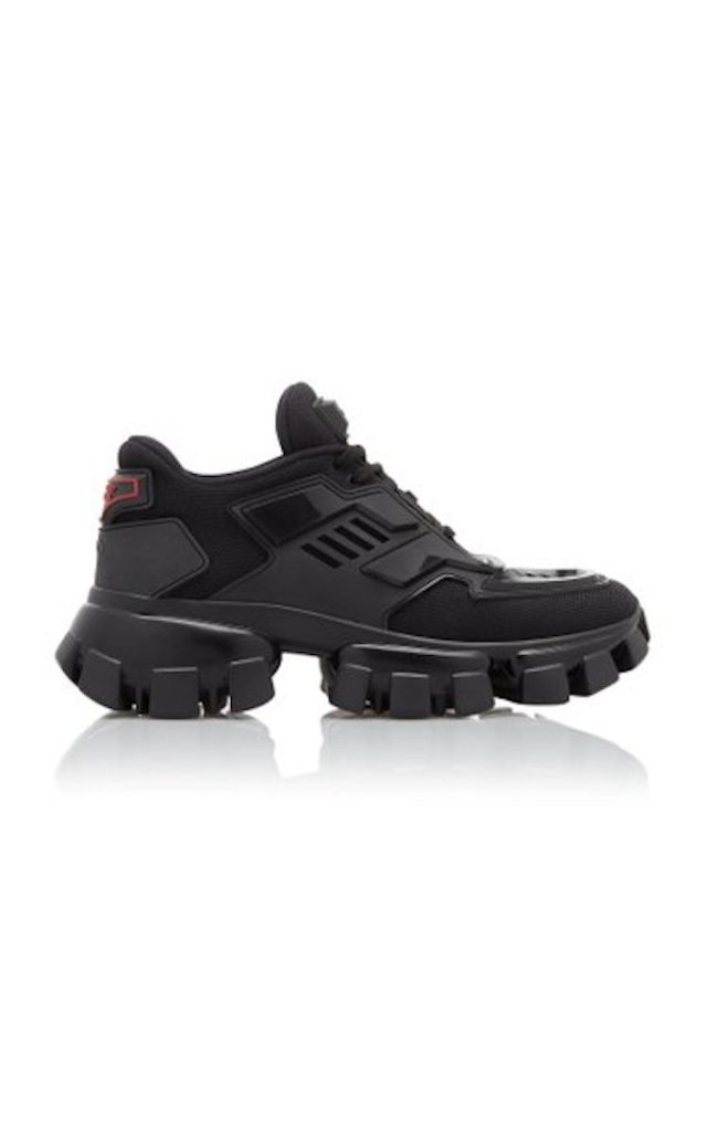 prada sneakers, chunky sneakers, dua lipa sneakers