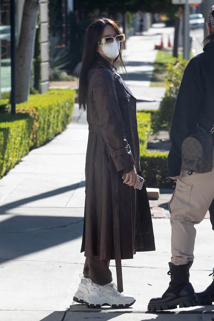 Rosalia is seen with new hair style leaving salon in West Hollywood. 19 Dec 2020 Pictured: Rosalia. Photo credit: iamKevinWong.com / MEGA TheMegaAgency.com +1 888 505 6342 (Mega Agency TagID: MEGA722049_002.jpg) [Photo via Mega Agency]