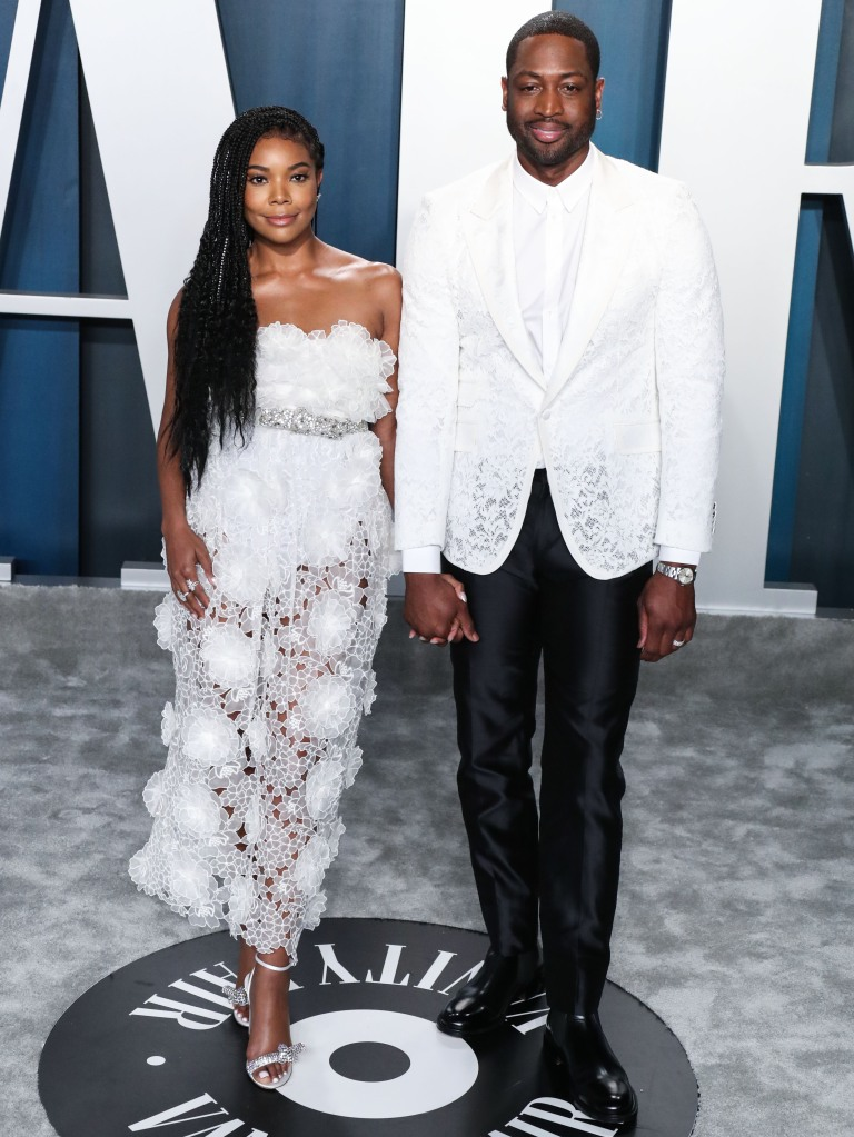 BEVERLY HILLS, LOS ANGELES, CALIFORNIA, USA - FEBRUARY 09: 2020 Vanity Fair Oscar Party held at the Wallis Annenberg Center for the Performing Arts on February 9, 2020 in Beverly Hills, Los Angeles, California, United States. (Photo by Xavier Collin/Image Press Agency)Pictured: Gabrielle Union,Dwyane Wade,Nicole Richie Ref: SPL5147734 090220 NON-EXCLUSIVE Picture by: Xavier Collin/Image Press Agency/Splash News / SplashNews.com Splash News and Pictures USA: +1 310-525-5808 London: +44 (0)20 8126 1009 Berlin: +49 175 3764 166 photodesk@splashnews.com World Rights