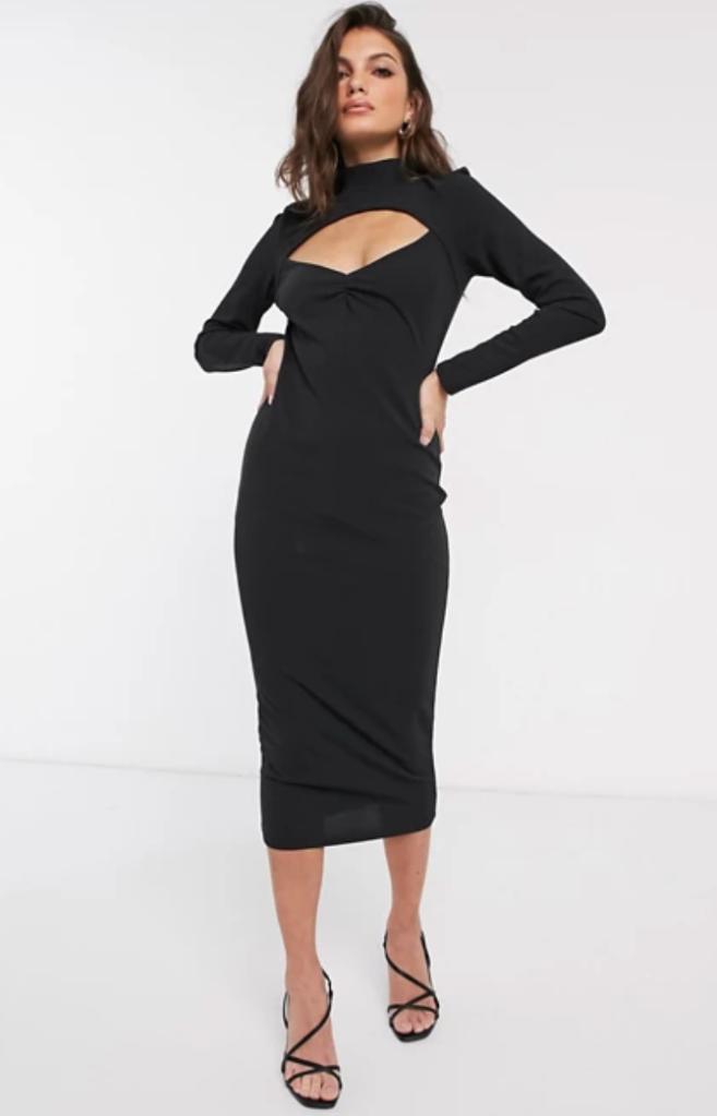 black dress, cutout