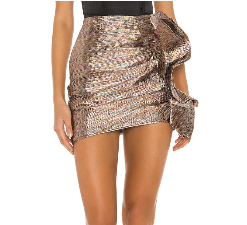 glitter skirt, mini skirt, ruffle
