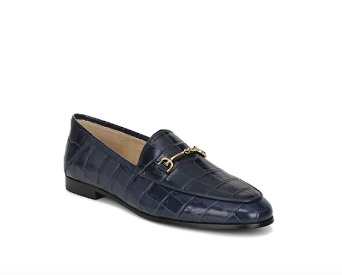 Sam Edelman Croc Embossed Loafers