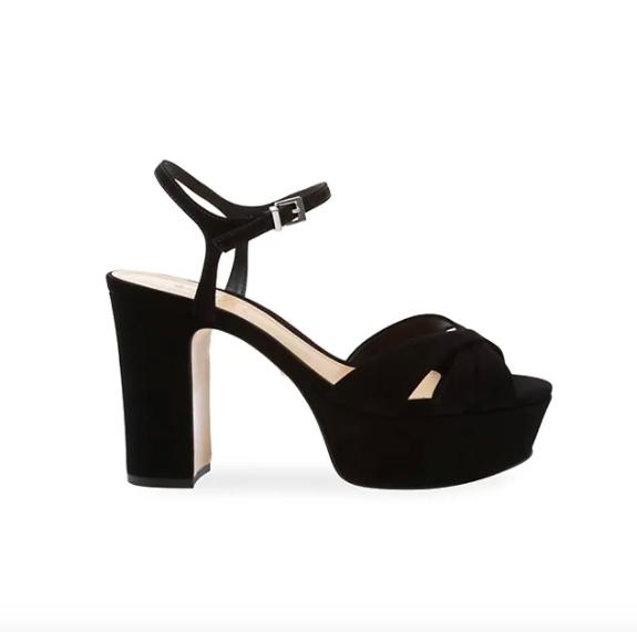 Schutz Black Platform Sandals