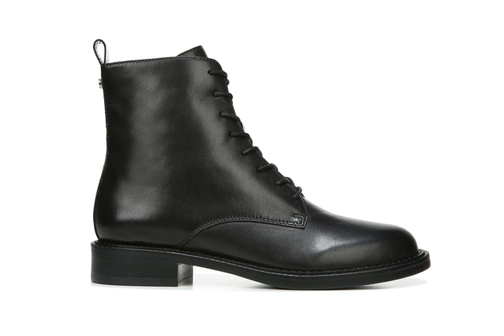 black boot, leather boot, lace up boot