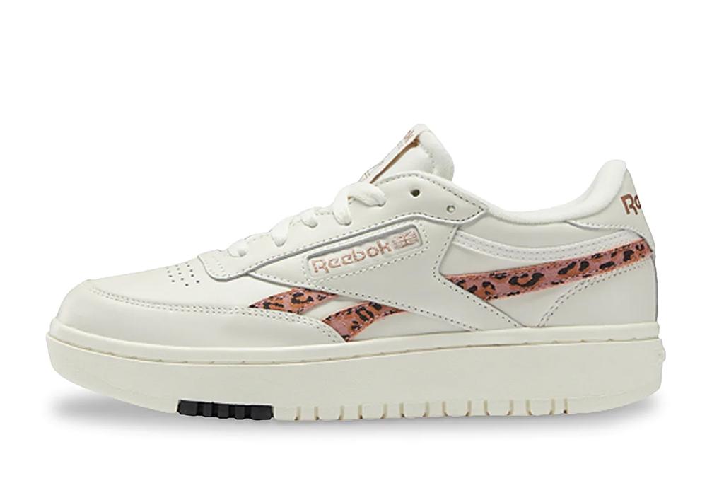 cheetah shoes, leopard sneakers, reebok club c sneakers