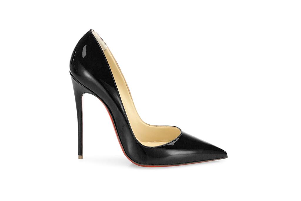 christian louboutin so kate 120 pumps, christian louboutin heels, black patent leather heels